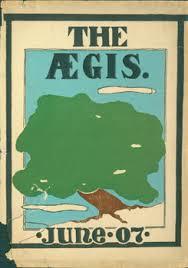 oakland high school yearbook dust jacket for the aegis june 07 1907 oakland high school