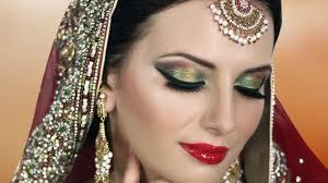 bridal makeup tutorial pink and gold smokey glam indian bridal makeup