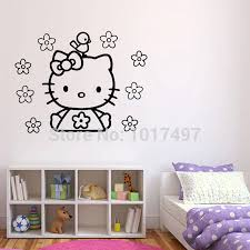 Flower Wall Decals For Nursery by Online Get Cheap Hello Kitty Flowers Wall Sticker Decals