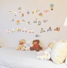 stickers d oration chambre b sticker animaux anglais stickers muraux enfants ambiance sticker com