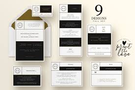 wedding invitation suite marian invitation templates