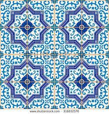 gorgeous seamless pattern blue white stock vector 316832576