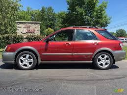 red subaru outback 2002 subaru impreza outback sport wagon in sedona red pearl