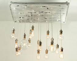 Chandelier With Edison Bulbs Nostalgic Reclaimed Wood Chandelier With Varying Edison Bulbs