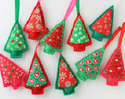 Christmas Tree Decorations Wholesale Singapore by Felt Tree Ornament Etsy