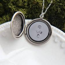 Monogram Locket Necklace Personalized Locket Locket Necklace Monogram Necklace Locket