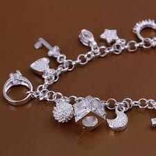free charm bracelet images 925 sterling silver 13 charms bracelets bangles h144 women 39 s jpg