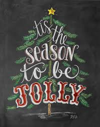 Quotes Christmas Tree Tis The Season To Be Jolly Print U0026 Canvas Forget Chalkboards