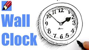 how to draw a wall clock real easy youtube