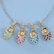 birthstone pendants for sale 14k gold birthstone baby shoe charm pendants for every