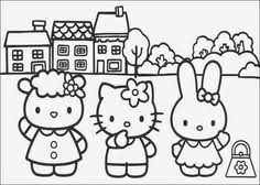 kitty birthday coloring pages free printable happy