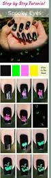 20 easy step by step scary halloween nail art tutorials for