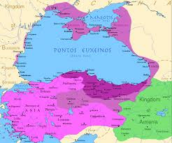 map of vi map of the kingdom of pontus before the of mithridates vi
