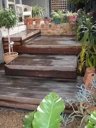 Patio And Decking Ideas by Decking Steps To Create Easy Access From The Path To The Entrance