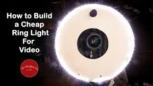 circle light for video build a diy ring light cheap youtube