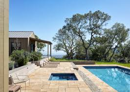 swimming pool of the week a view through the oaks in marin county