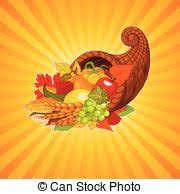 eps vectors of horn of plenty illustration of a thanksgiving