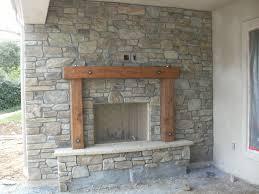 fireplace rock veneer outdoor
