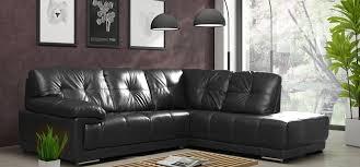 Large Black Leather Corner Sofa Maxim Corner Rhf Black Leather Corner Sofas Sofas