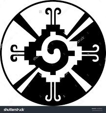 hunab ku heart of the galaxy mayan symbol for god stock