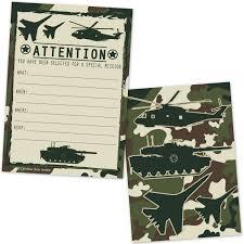 amazon com amscan boys adventurous camouflage tank invitations