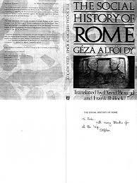 soci t g n rale si ge social alfoldi geza social history of rome