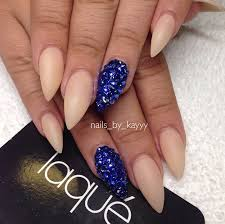 royal blue and cute nails pinterest almond shape nails