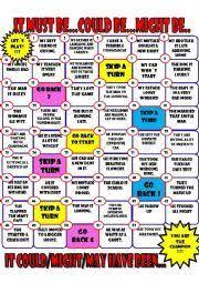 english worksheets modal verbs game ingles para niños