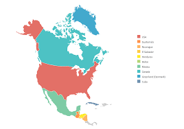 Map Of Canada And Usa by Geo Map Of Americas
