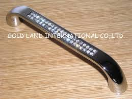 128mm free shipping crystal glass long dawer handle kitchen