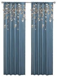 Single Panel Window Curtain Designs Flower Drops Window Curtain Curtains By Lush Decor