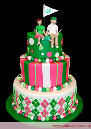 Wedding Anniversary Cakes Golf Themed Wedding Anniversary Cake Celebration Cakes