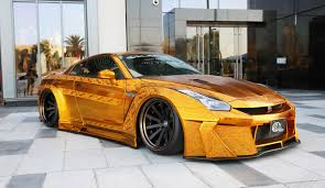 Nissan Gtr Gold - this gold plated nissan r35 gt r is now in dubai t3 middle east