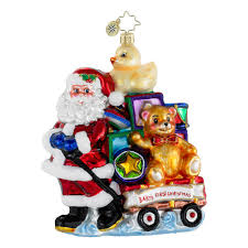 christopher radko ornaments showered with toys baby ornament