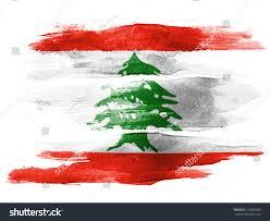 Libanese Flag Lebanese Flag Painted On White Paper Stock Photo 120390289
