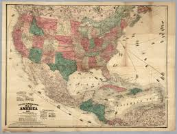 Topographical Map Of United States by Topographical Map Of America 1871 David Rumsey Historical Map
