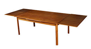 what is a draw leaf table refinished mid century modern draw leaf danish table modernism