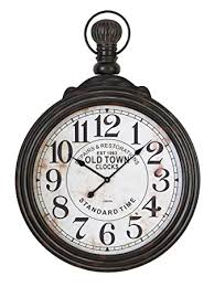 amazon com 39 in pocket watch style large wall clock home u0026 kitchen