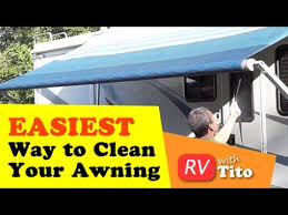 Rv Awning Protective Cover How To Tip Easiest Way To Clean An Rv Awning Youtube