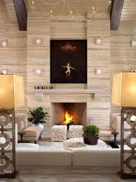 living room with tv on wall above fireplace house decor picture