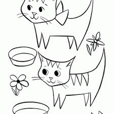 cute squinkies cat coloring page pictures of cats to color litle