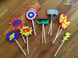 superhero wedding table decorations die cut avengers super hero cupcake toppers marvel inspired