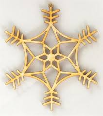 wood snowflake ornaments wooden snowflakes to paint