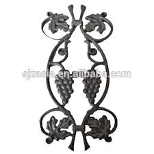 ornaments cast iron picket grapes design single faced