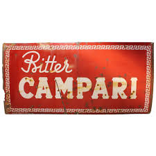 campari art 1950 u0027s original italian metal sign campari for sale at 1stdibs