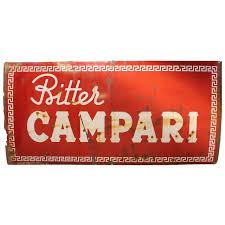 campari art 1950 u0027s original italian metal sign campari for sale at 1stdibs