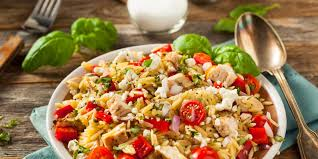 Homemade Pasta Salad by Orzo Salad With Feta Olives And Bell Peppers Recipe Epicurious Com