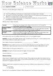 identifying independent and dependent variables worksheet free