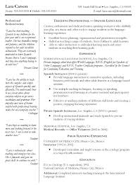 Teachers Resume Objectives Spanish Teacher Resume Objective Free Resume Example And Writing