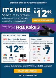 roku deals black friday free roku 3 with charter spectrum tv stream deal 12 99 or 19 99